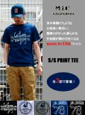 M.I.C CALIFORNIA(エムアイシーカリフォルニア) S/SプリントTシャツ