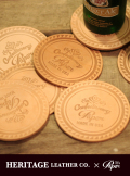 【HERITAGE LEATHER×paper】LEATHER COASTER