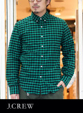 J.CREW ジェイクルー BLOCK CHECK SHIRTS OXFORD GREEN/BLACK