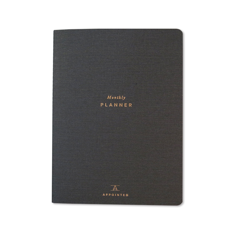 Appointed/マンスリープランナー/Monthly Planner:Chacoal Gray