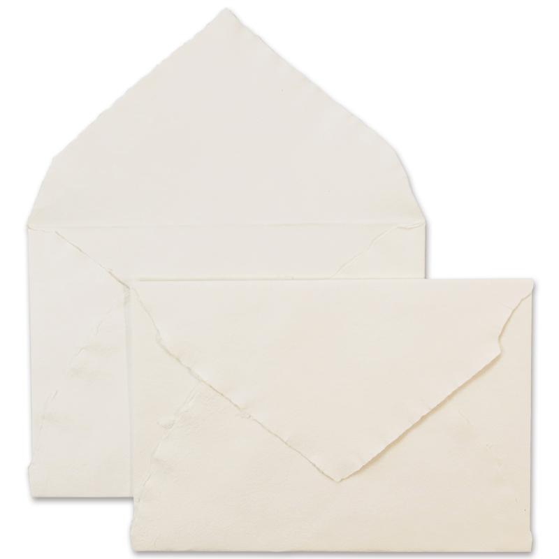 ARPA/ハンドメイドコットン封筒/Envelope: Ivory