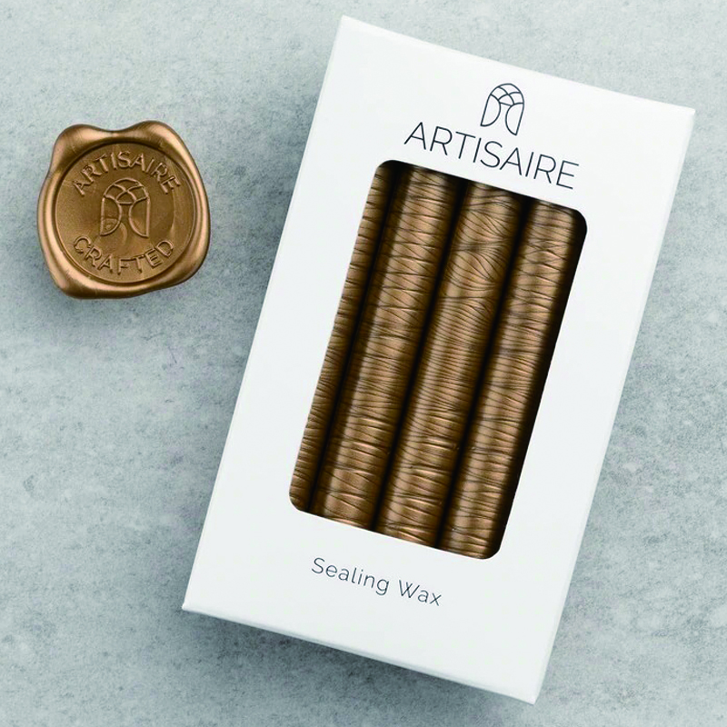 Artisaire/グルーガンワックス/Antique Gold Sealing Wax Sticks (5 Pack)
