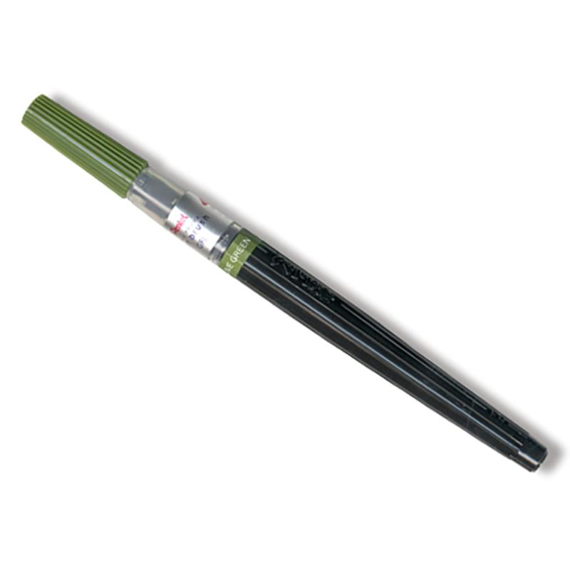 Pentel/ブラッシュカリグラフィー/Art brush Olive Green