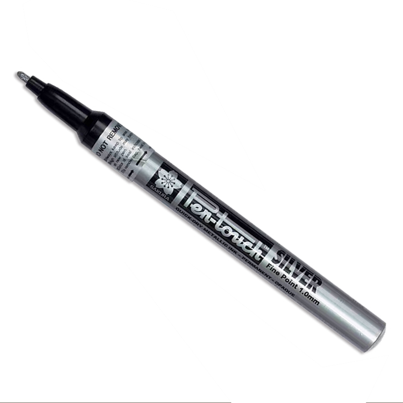 Sakura/カリグラフィーペン/Sakura Pen-Touch Metallic Bullet tip Marker-1mm Silver Fine Point