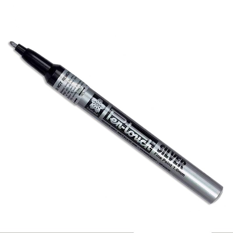 カリグラフィー/ペン/Sakura Pen-Touch Metallic Bullet tip Marker-1mm Silver Fine Point