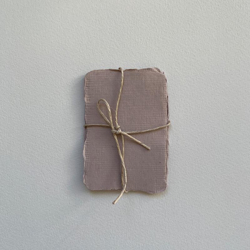 Indian Handmade Cotton Paper/カード5枚セット SSサイズ