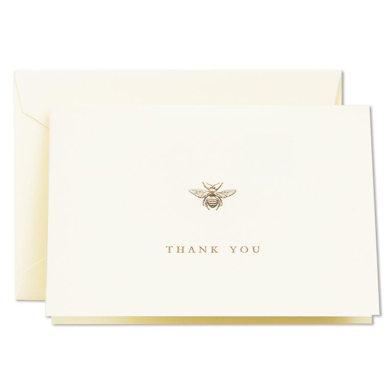 クレイン/ボックスカード10枚セット/Engraved Bumble Bee Thank You Note