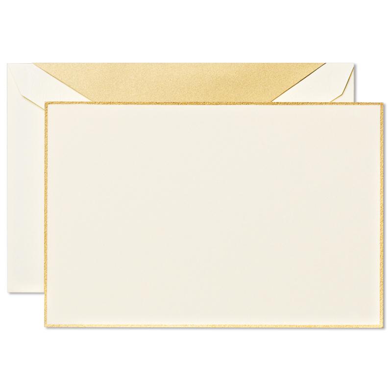 クレイン/ボックスカード/Gold Bordered Correspondence Cards