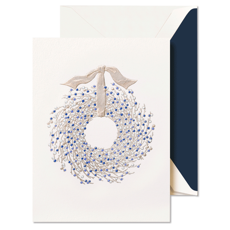 Crane/ボックスカード/Juniper Berry Wreath Holiday