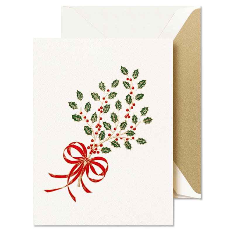 Crane/ボックスカード/Engraved Holy Sprig Holiday