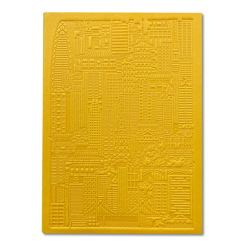 The City Works/ノートブック/Tokyo Debossed Notebook - Yellow
