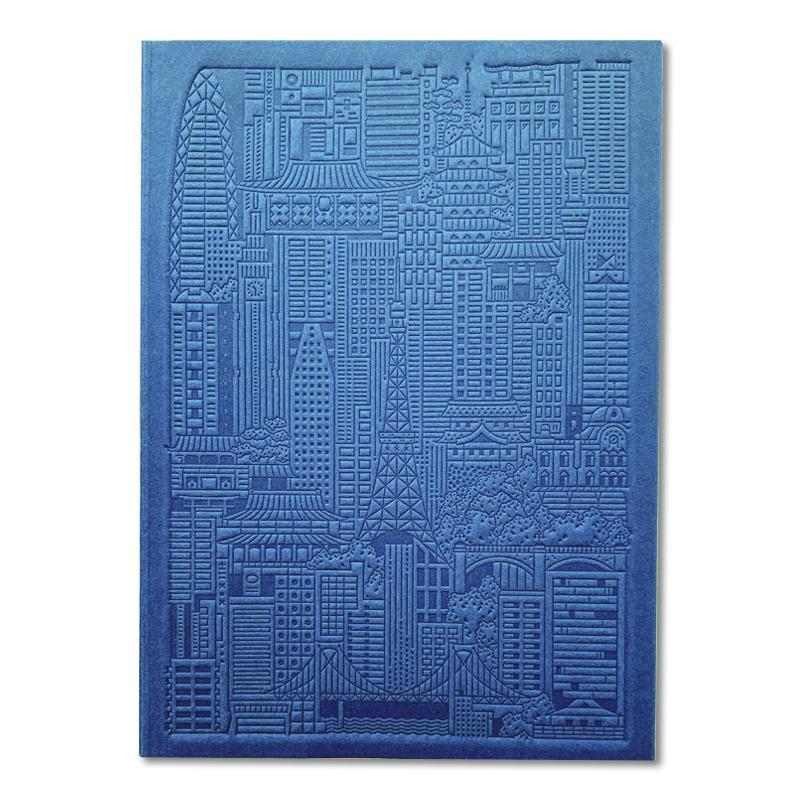 The City Works/ノートブック/Tokyo Debossed Notebook - Blue