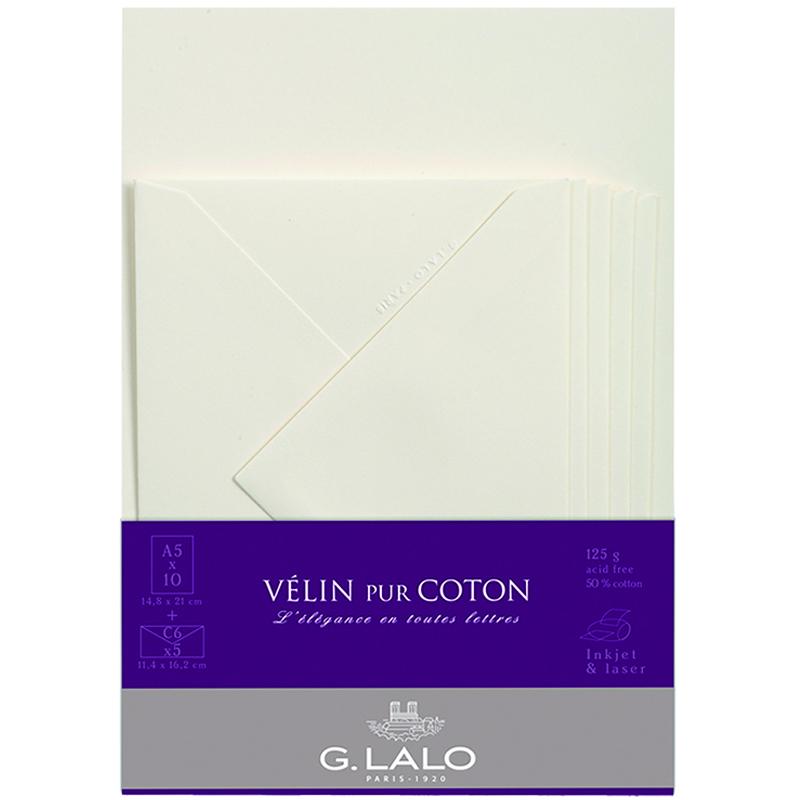 ジーラロ/レターセット/VELIN pur COTON Letter Set
