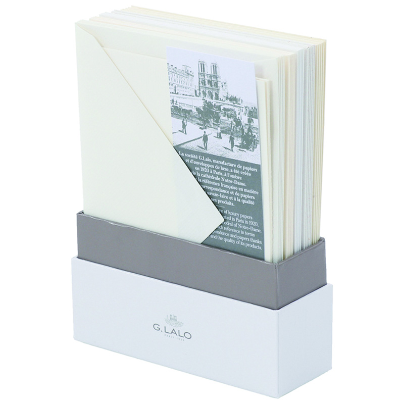 G. Lalo/ボックスカード/Assortment of Traditional Papers -25 Cards and Envelopes