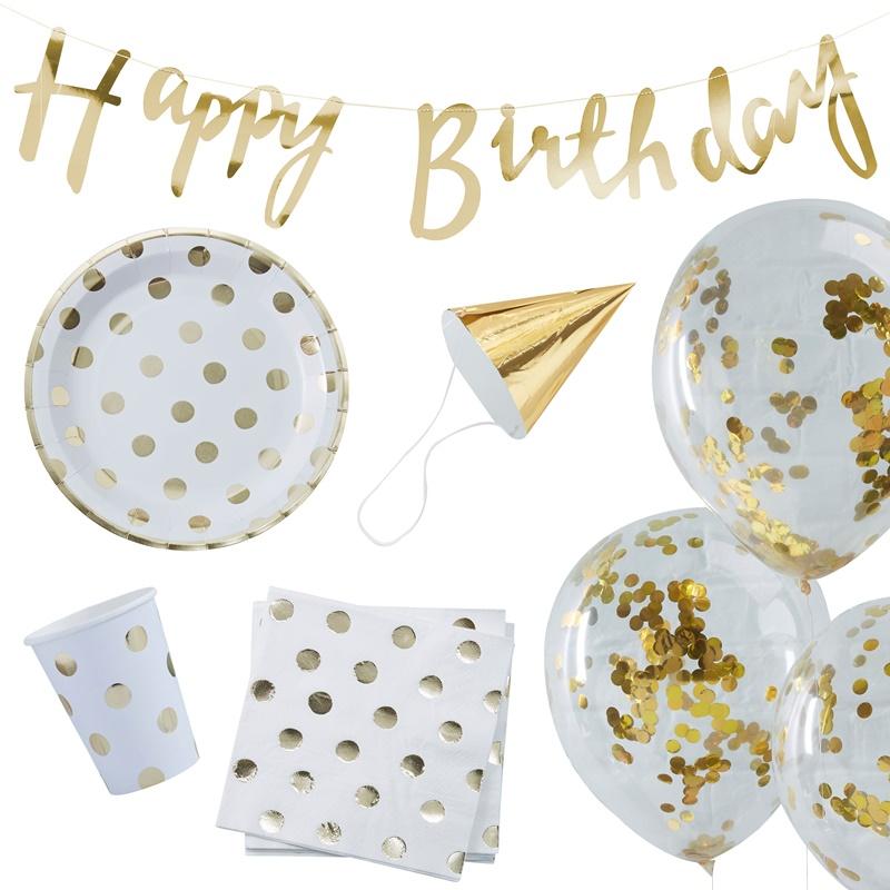 ジンジャーレイ/Party Set/Gold Foiled Birthday Party Box