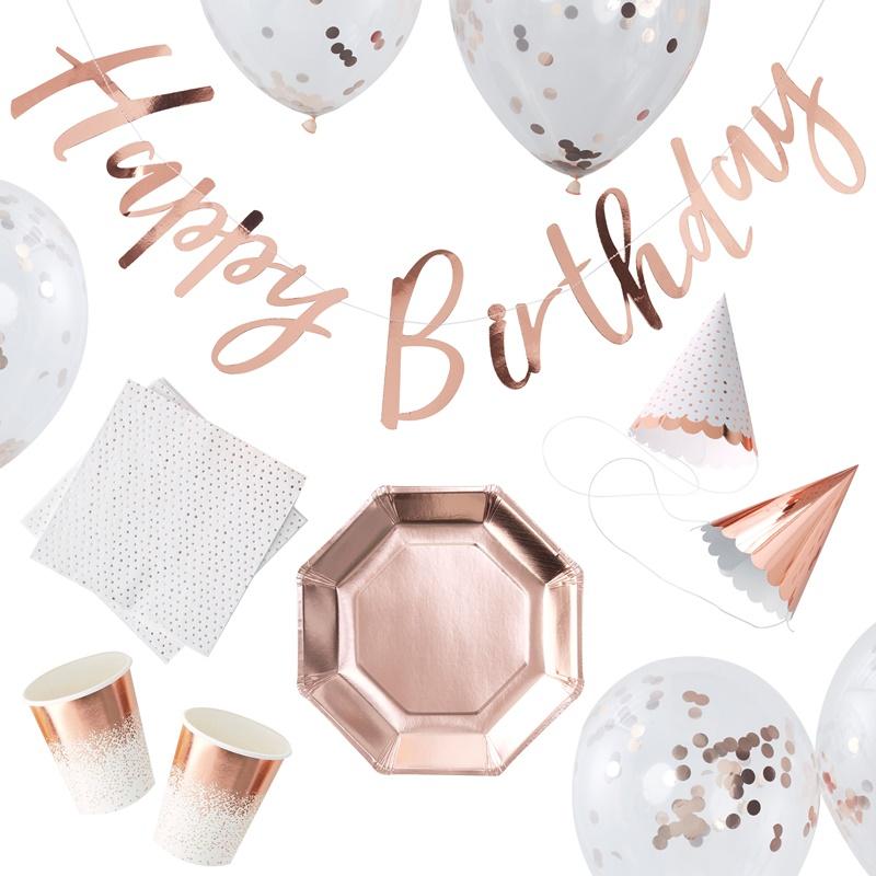 ジンジャーレイ/Party Set/Rose Gold Foiled Birthday Party Box