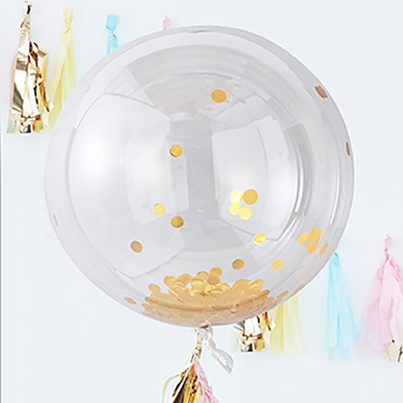 Ginger Ray/ビッグコンフェッティバルーン・ゴールド/Giant Gold Confetti ORB Balloon