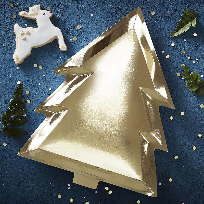 ジンジャーレイ/クリスマスツリープレート・ゴールド/Christmas Tree Plate Gold
