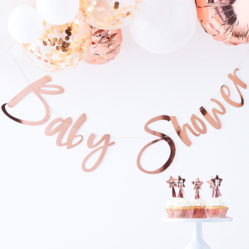 Ginger Ray/ガーランド/Rosd Gold  Baby Shower Backdrop