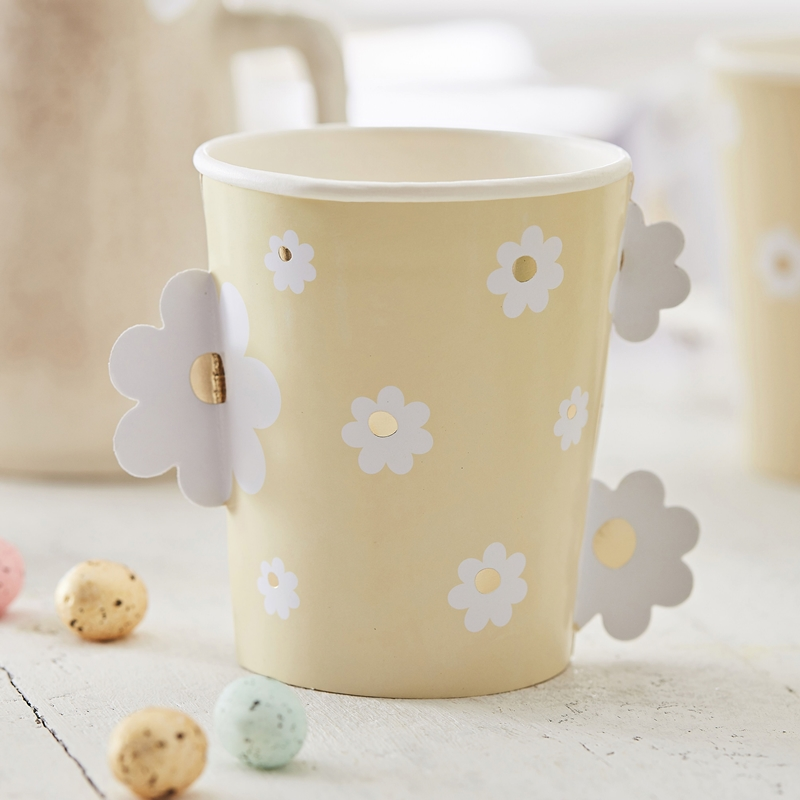 Ginger Ray/ペーパーカップ/DAISY EASTER PAPER CUPS
