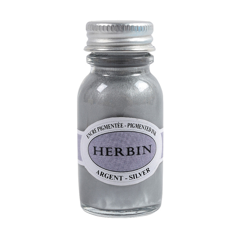 Herbin/カリグラフィーインク/Pigmented Ink: Silver (15ml)