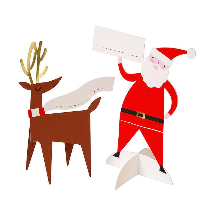 メリメリ/プレイスカード/Place Card Santa and reindeer