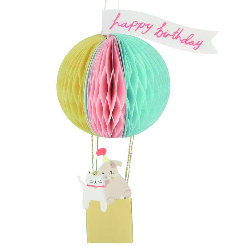Meri Meri/シングルカード/Air Balloon Honeycomb Card