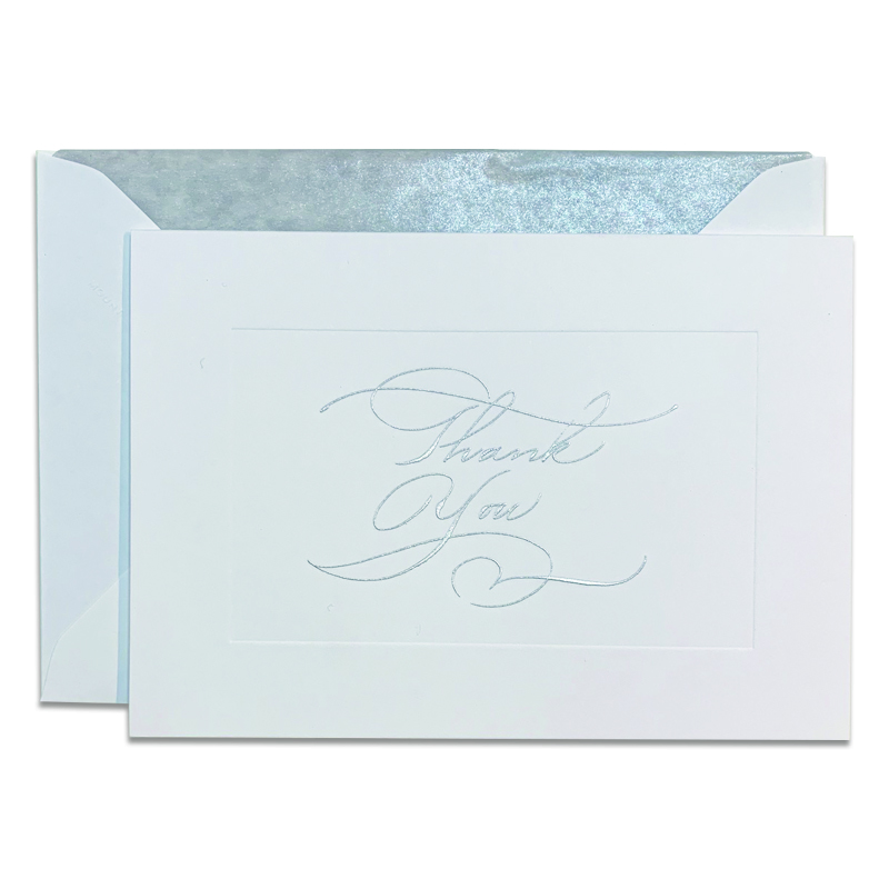 Mount Street Printers/ボックスカード/Calligraphy Thank You Silver