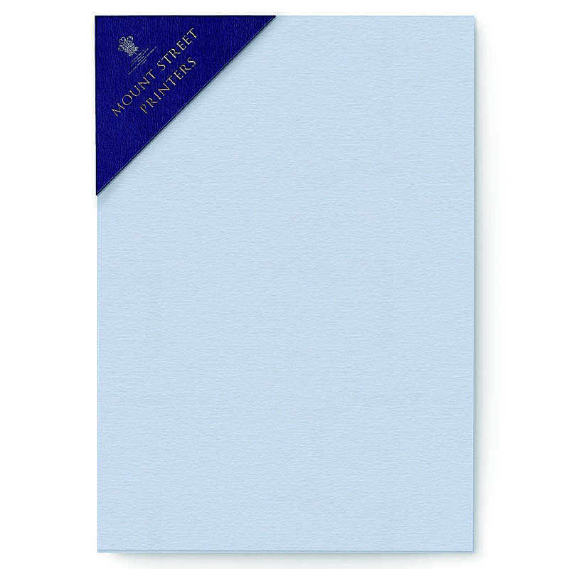 Mount Street Printers/便箋/A5 Writing Sheets Sets- Cool Blue