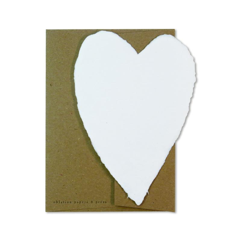 オブレイション/シングルカード/Small White Heart with Kraft Envelope