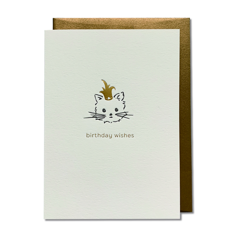 OBLATION/シングルカード/Birthday Kisses Cat Card