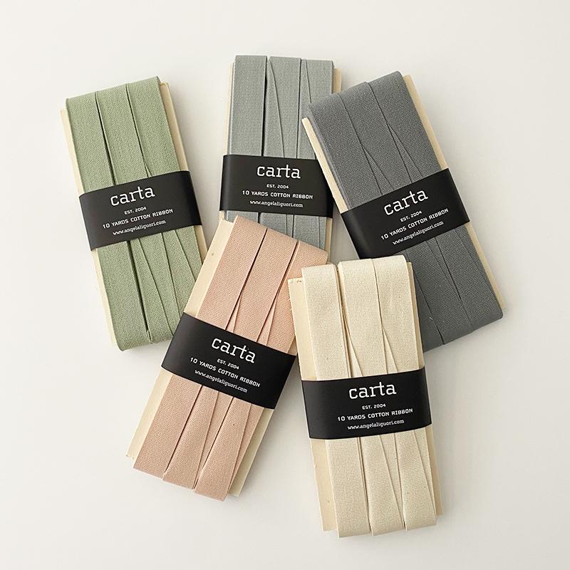 Studio Carta/コットンリボン/Tight Weave Cotton Ribbon -  5/8inch