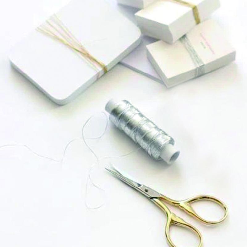 Studio Carta/スレッド/Metallic Thread - Silver-100 yards (90m)