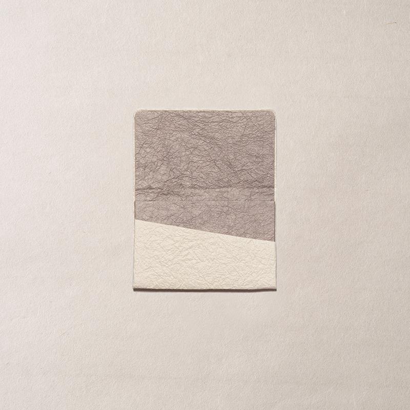 ginger/名刺入れ/黒谷 未晒×グレー  White&Gray