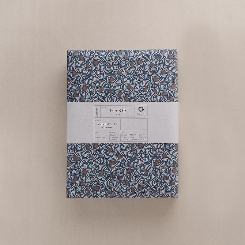 ginger/文庫A4/FLOWER-Blue 2