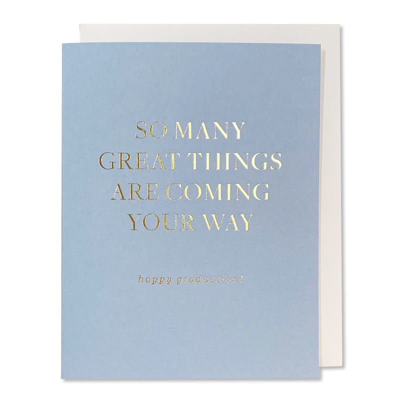 Smitten On Paper/シングルカード/Great Things Graduation Greeting Card