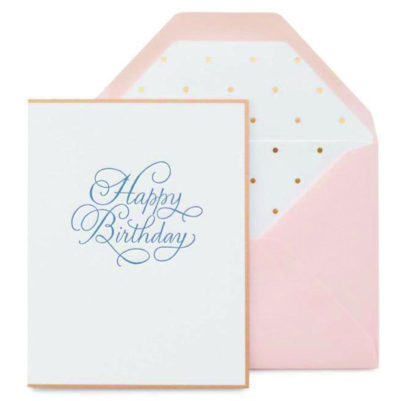 シュガーペーパー/シングルカード/Traditional Happy Birthday