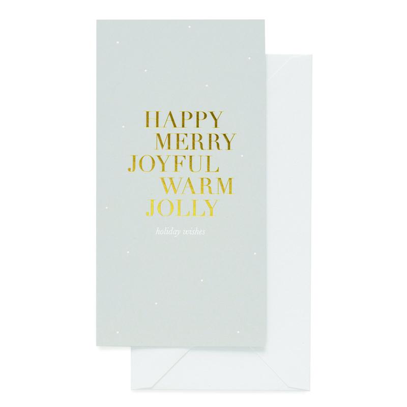 Sugar Paper/シングルカード/Happy, Merry, Joyful Monarch