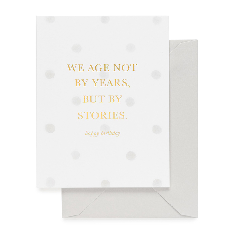 Sugar Paper/シングルカード/Not By Years But By Stories