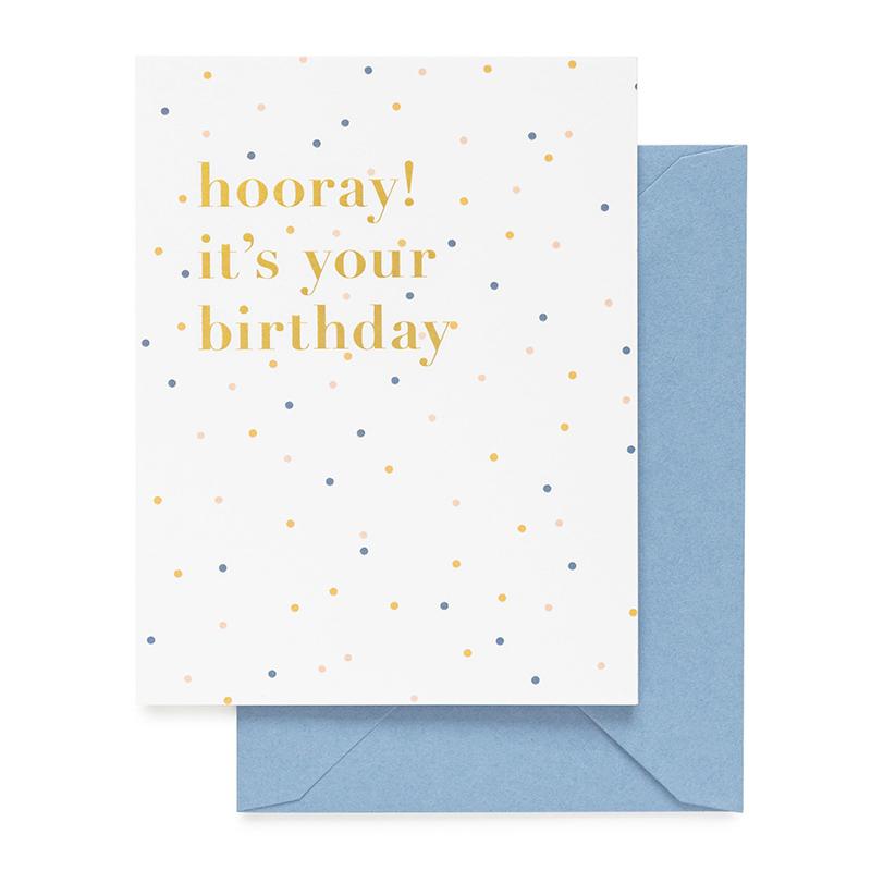 Sugar Paper/シングルカード/Hooray! It's Your Birthday