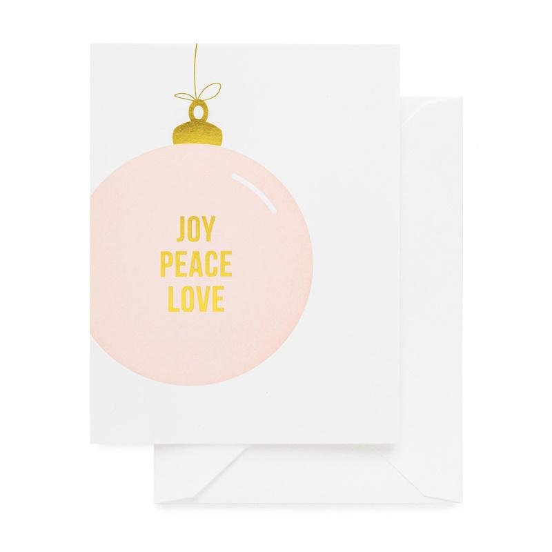 Sugar Paper/シングルカード/Joy Peace Love Ornament