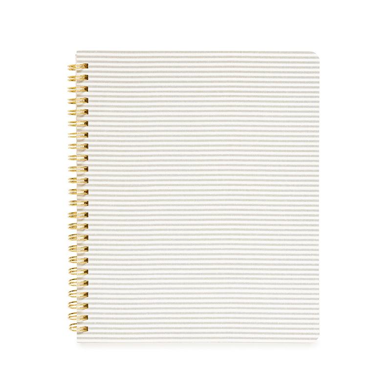 Sugar Paper/ノートブック/Spiral Notebook, Gray Stripe