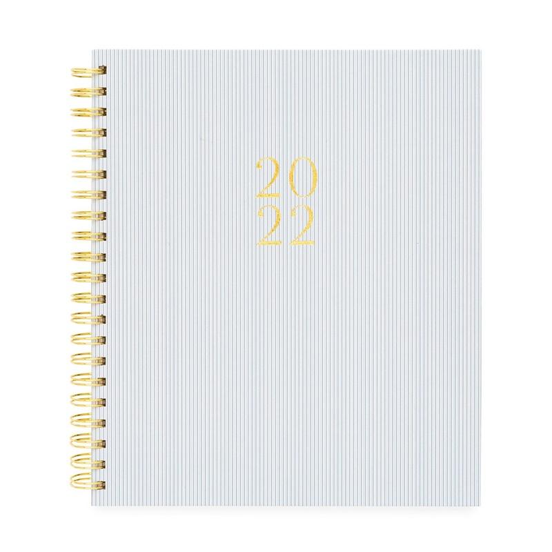 Sugar Paper/ダイアリー/Spiral Daily Planner, Blue Pinstripe, 2022