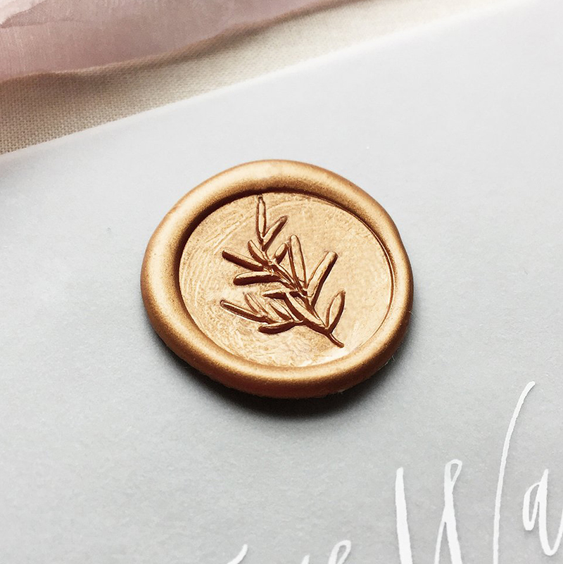 Stamptitude/シーリングスタンプ&ワックス/Sage Sprig Wax Seal