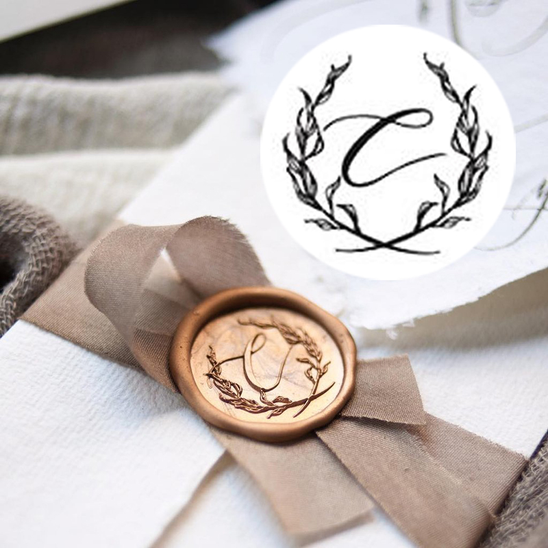Stamptitude/シーリングスタンプ&ワックス/Initial Wax Seal - C