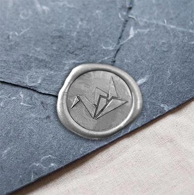 スタンプティチュード/シーリングスタンプ&ワックス/Origami Wax Seal