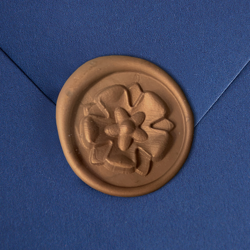 Stamptitude/シーリングスタンプ&ワックス/Heirloom Wax Seal - Tudor Rose/Bronze