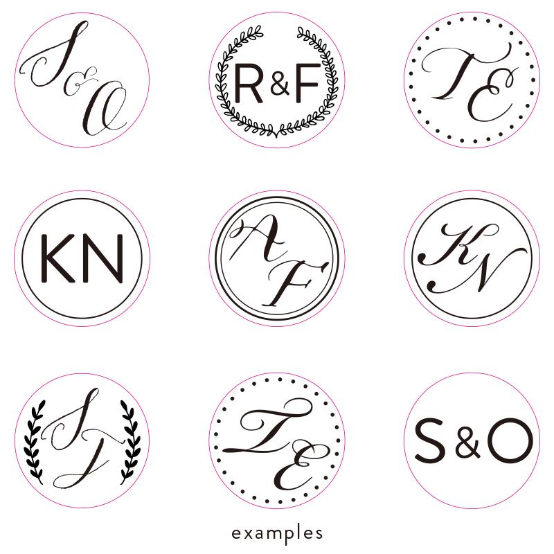 Stamptitude/モノグラムワックスシールスタンプ/Monogram Wax Seal Stamp