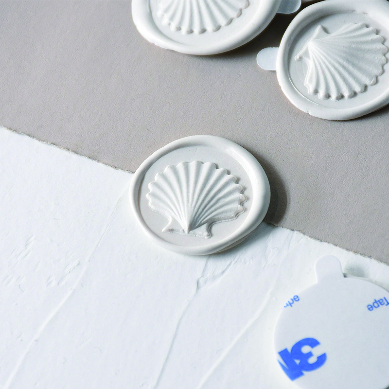 Stamptitude/ワックスシール/Seashell Wax  Stickers - Ivory