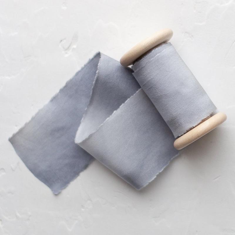 STELLA WOLFE/シルクリボン/Marbled Blue
